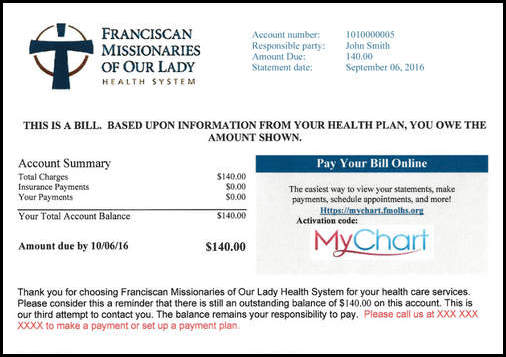 Pay Your Bill Online Baton Rouge, Louisiana (LA), Our Lady of the